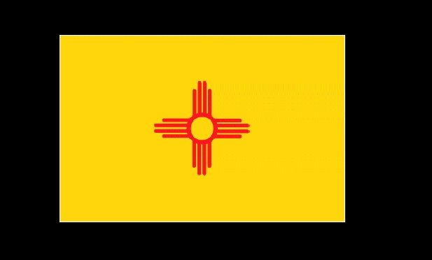 New Mexico state flag (Credit: WPClipart)
