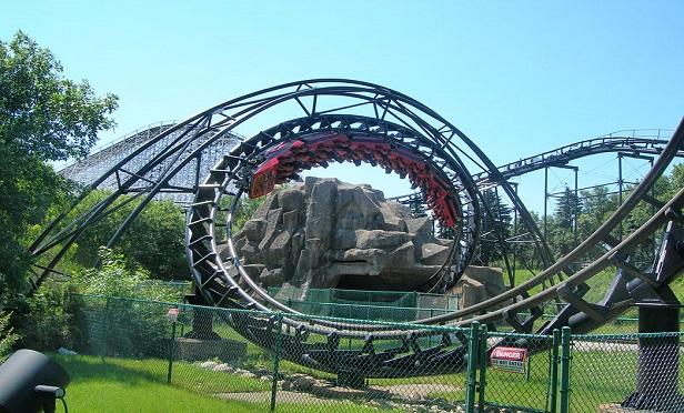 A rollercoaster