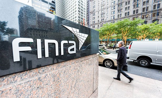 FINRA sign outside its headquarters in New York.