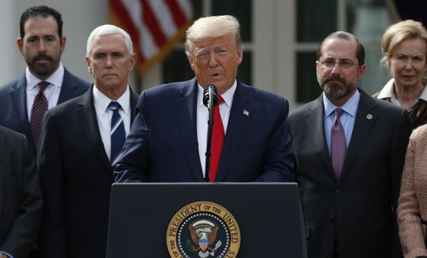 Trump gave a news conference Friday afternoon. (Photo: Bloomberg)