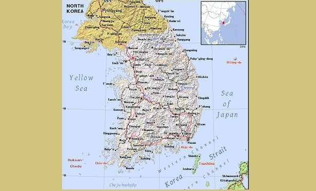 A map of Korea