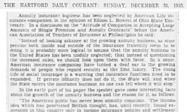 After the Catastrophic 1918 Flu Pandemic, Annuities Did Fine
