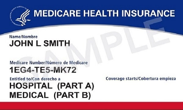 A picture of a Medicare card
