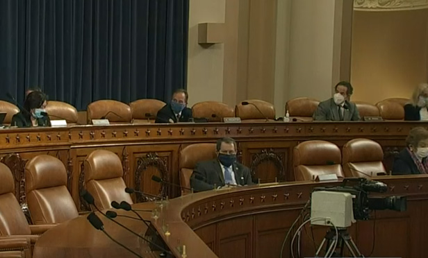 The House Rules Committee practices social distancing. (Image via C-Span)