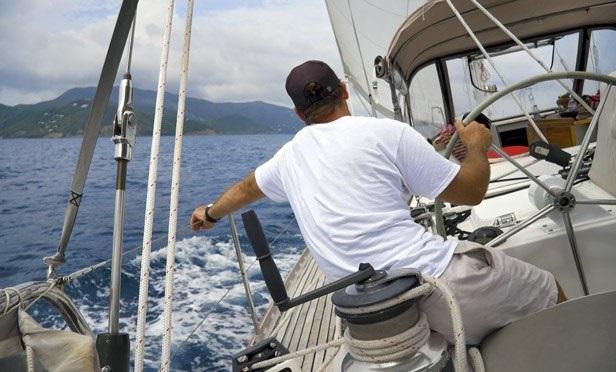 A sailor sailing