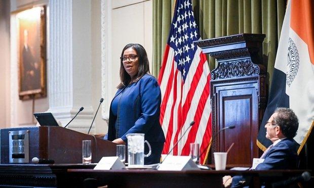 New York Attorney General Letitia James (Photo: David Handschuh/ALM)