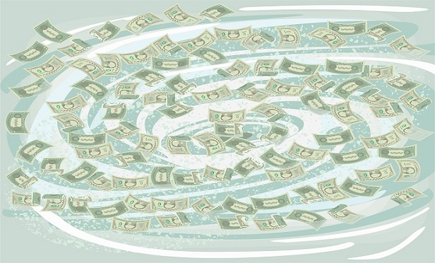 A swirling river of cash