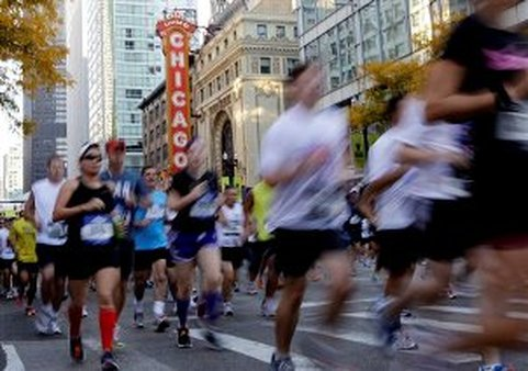 This year's Chicago marathon included one death and one birth.