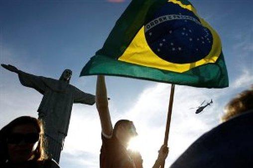 Brazil.Columbia World Cup Soccer, AP