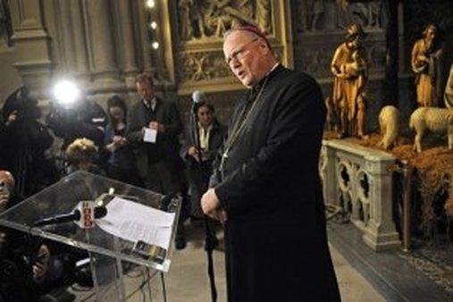 New York Archbishop Timothy Dolan (AP Photo/Louis Lanzano)