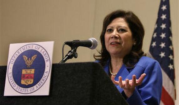 U.S. Secratary of Labor Hilda Solis (AP Photo/Al Behrman)