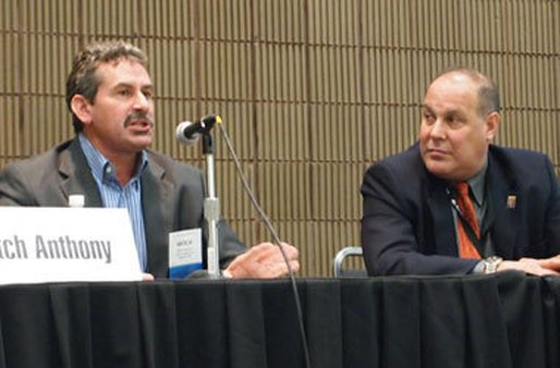 Mitch Anthony (left) and Robert Kaplan (right) explain how retirement planning changes in the two phases.