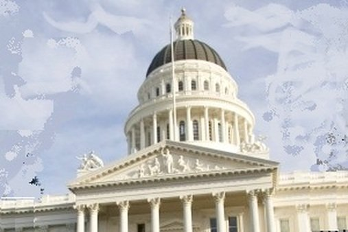 The California Capitol (A photo illustration based on an AP photo by Robert Durell)