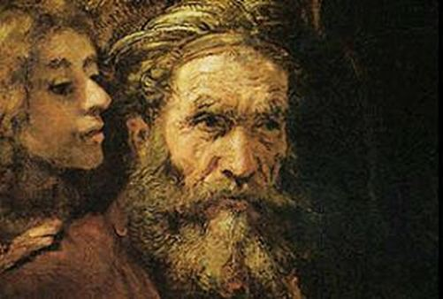 "A detail from Rembrandt's Matthew and Angel (<a href=""http://en.wikipedia.org/wiki/File:The_Evangelist_Matthew_Inspired_by_an_Angel.jpg"">Wikipedia Photo)</a>"