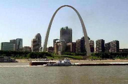 St. Louis Skyline. AP Photo: James A. Finley