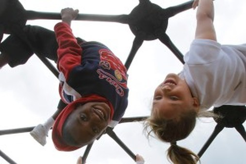 Kids who fall sometimes need more than a kiss on the knee. (AP Photo/Seth Perlman)