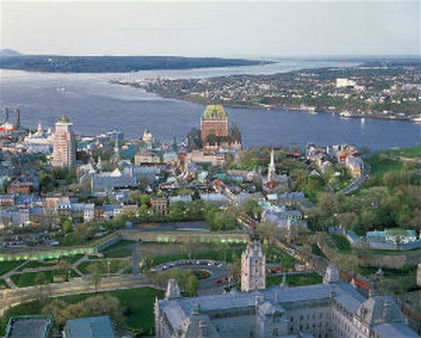 An aerial view of Old Quebec. AP Photo/J-F Bergeron, Enviro Foto