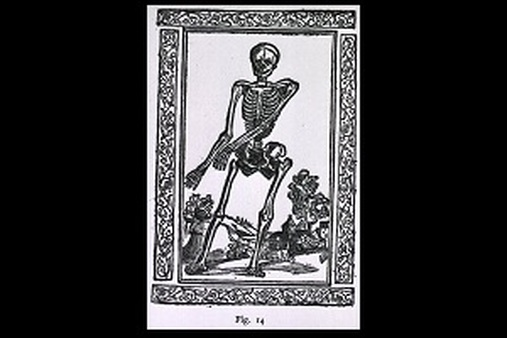 The skeleton, by Jacopo Berengario da Carpi (Image Courtesy of the National Library of Medicine)