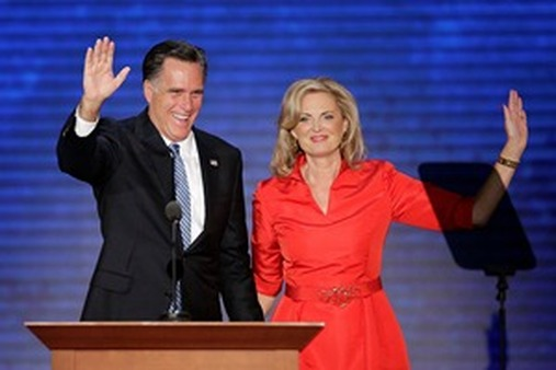 Ann Romney appears with her husband, Republican presidential nominee Mitt Romney, at the Republican National Convention. (AP Photo/J. Scott Applwhite)