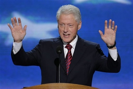 Bill Clinton speaks at the Democratic National Convention. (AP Photo/J. Scott Applewhite)
