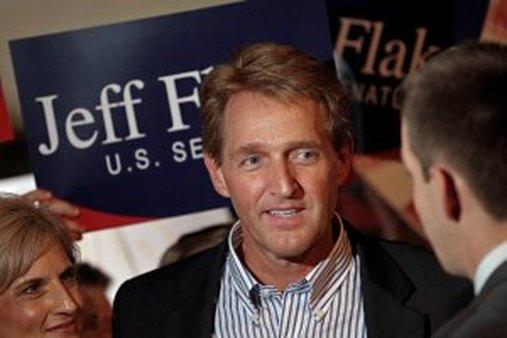 Jeff Flake campaigns for a Senate seat in Arizona. (AP Photo/Matt York, File)