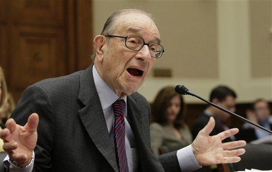 Alan Greenspan testifying on Capital Hill in 2010. (AP Photo/J. Scott Applewhite)