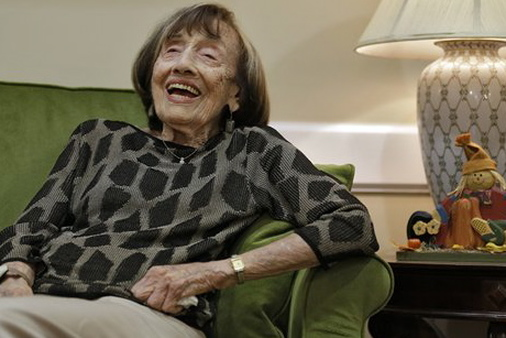 Selling the wrong annuity product to the wrong person is no laughing matter,  (AP Photo/Chris O'Meara, 102 year-old Florida woman, Nov. 6, 2012)