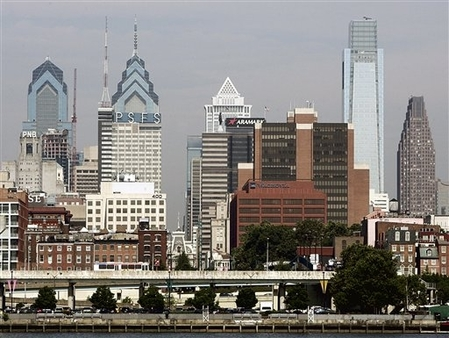 Pennsylvania is one of five states that will benefit from the Bankers' Life settlement. Here, the Philadelphia skyline. (AP Photo/Tom Mihalek)