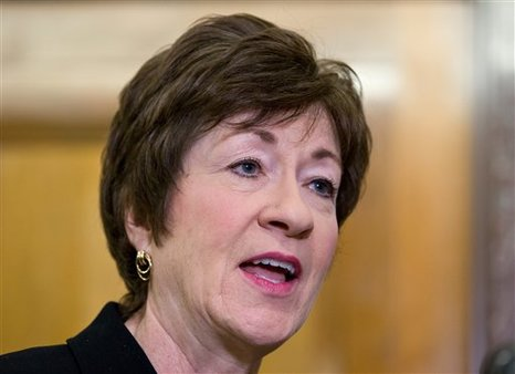 Sen. Susan Collins, R-Maine, says insurance companies should be treated differently from banks. (AP Photo/J. Scott Applewhite)