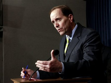 Washington has only settled the revenue portion of the fiscal cliff, says Rep. Dave Camp. (AP/Pablo Martinez Monsivais)