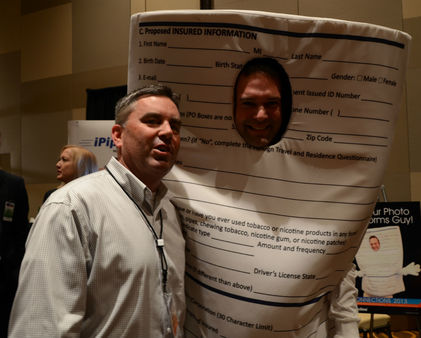 "Brian Anderson with ""Forms Guy"" at iPipeline Connections 2013 in Las Vegas."