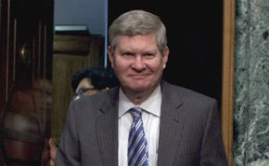 Sen. Tim Johnson, D-S.D., announced he will retire at the end of his term in 2014. (AP photo/Harry Hamburg)
