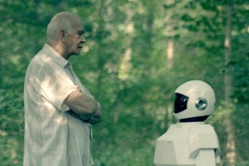 """Accountants have a new reason to ponder just what it means to be a human being. (""""Frank & Robot"""" film publicity still)"""