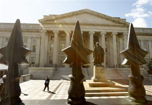 U.S. Treasury Building (AP photo/Gerald Herbert)