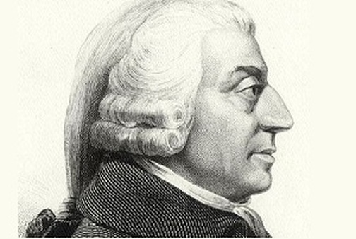 Adam Smith, the father of free-market philosophy (Kress Collection, Harvard Business School)
