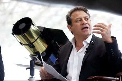 Peter Diamandis announced plans for the world's first crowd-funded space telescope in May. (AP Photo/Ted S. Warren)