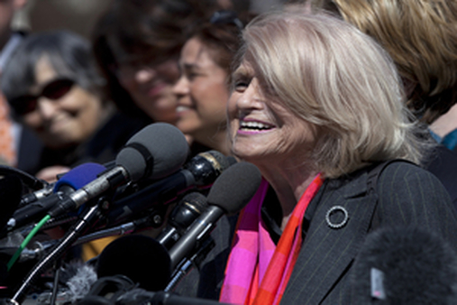 Edith Windsor fought to receive the same benefits as heterosexual couples. (AP Photo/Carolyn Kaster)