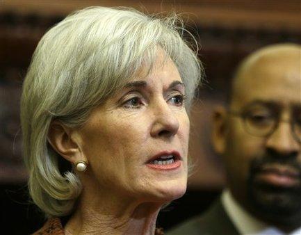 HHS Secretary Kathleen Sebelius  (AP photo/Matt Rourke)