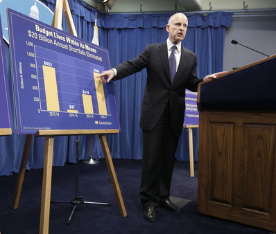 Calif. Gov. Jerry Brown showing increases in funding in his proposed 2013-14 state budget (AP Photo/Rich Pedroncelli, file)