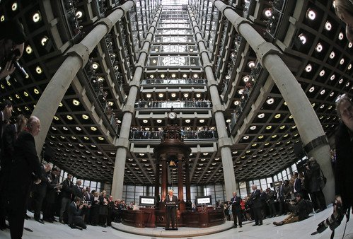 Maybe insurance looks unknowable to all but those who do it: The historic underwriting room of Lloyd's London. (AP Photo/Frank Augstein)