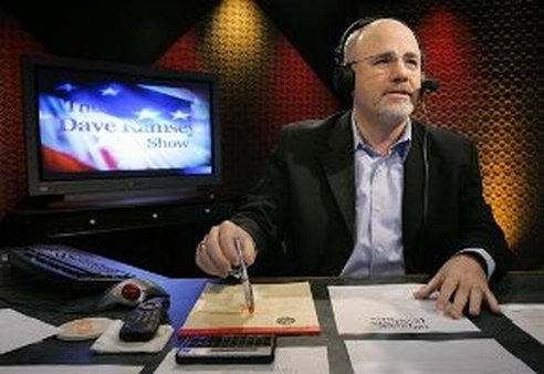 Personal finance guru Dave Ramsey works in his broadcast studio in 2006. (AP Photo/Mark Humphrey)