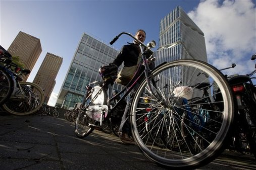 Amsterdam's business district. AP Photo/Peter Dejong