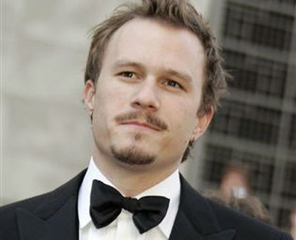 Heath Ledger left behind a young daughter when he died at the age of 27. (AP Photo/Reed Saxon)