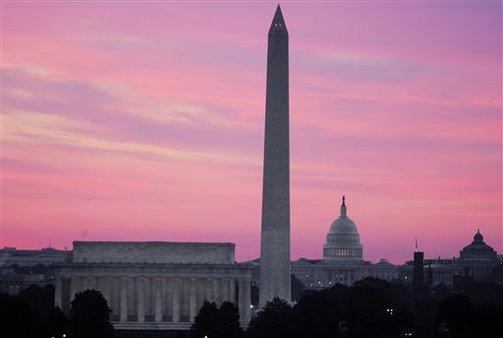 The skyline of Washington, D.C., where the NAIC is now meeting. (AP Photo/Ron Edmonds)
