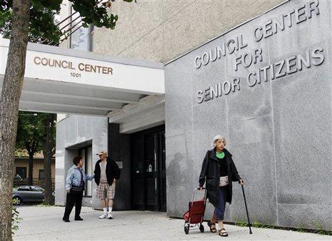 A senior center in Brooklyn, NY. AP Photo/Jon Gerberg, file.