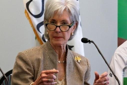 Outgoing HHS Secretary Kathleen Sebelius (AP photo/Al Behrman)