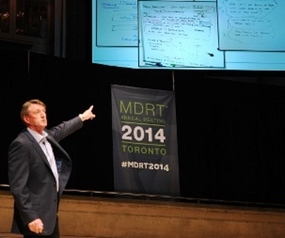 "MDRT speaker Kevin Gaskell urged attendees on Sunday to ""become obsessed with team success."" (ThePhotoGroup)"