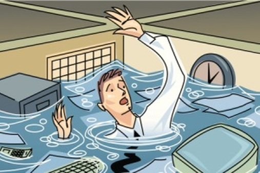 Murphy's law, office floods and having an insurance agent who is a hero.