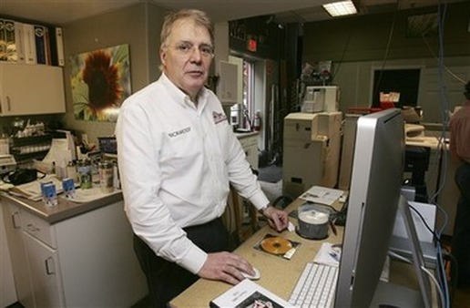 Small-business owner, Michael St. Germain, president of Concord Camera, at his store in Concord, N.H. (AP/Jim Cole)