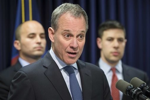 New York state's Attorney General Eric Schneiderman. (AP Photo/John Minchillo)